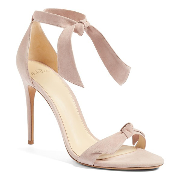 ALEXANDRE BIRMAN 'clarita' ankle tie sandal - An easy, elegant ankle tie tops a minimalist sandal crafted