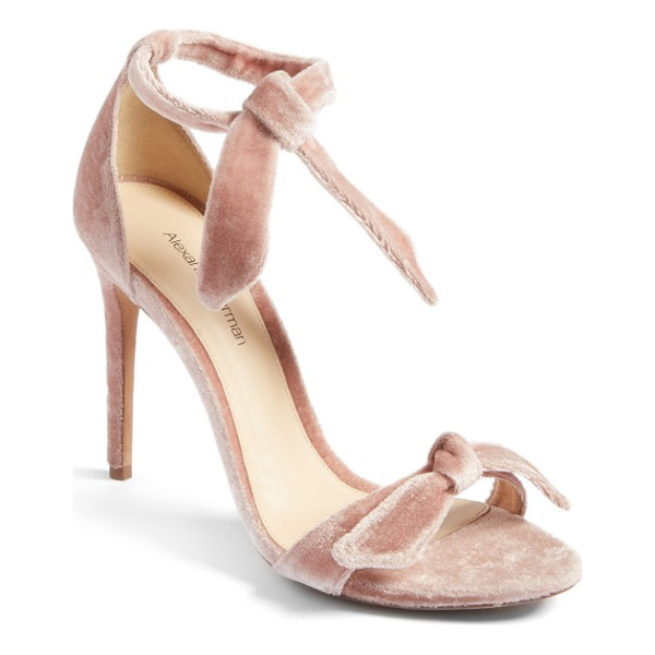 ALEXANDRE BIRMAN clarita sandal - A knotted detail embellishes the velvety toe strap of an...