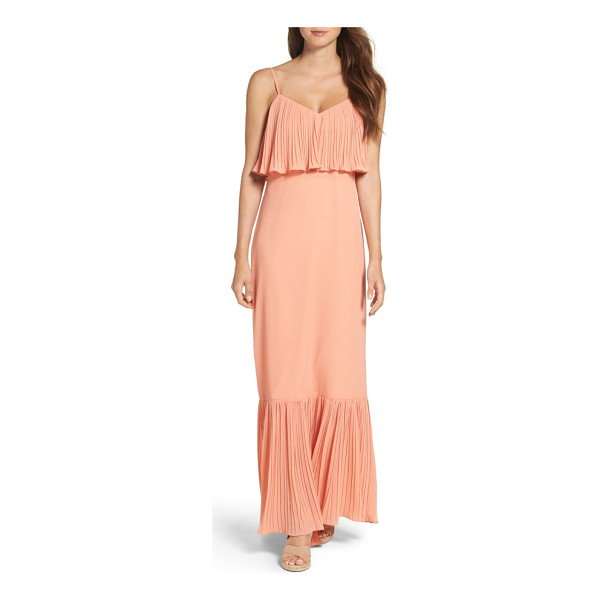 ALI & JAY moroccan villa maxi dress - Fluttering pleats along the bodice overlay and maxi hem...