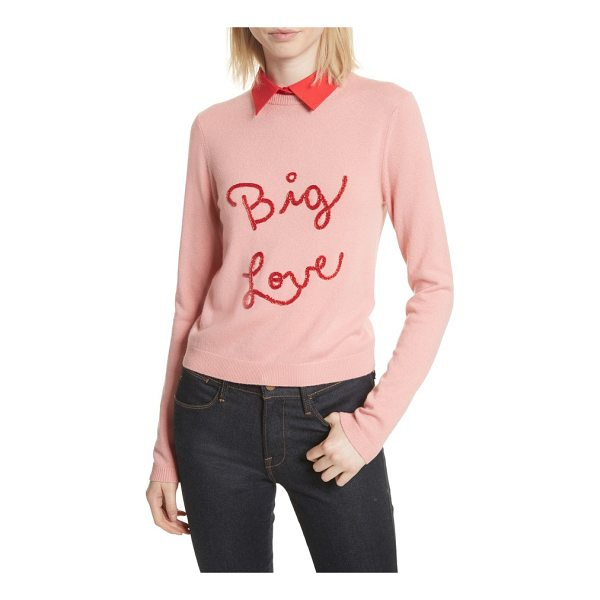 ALICE + OLIVIA big love embroidered cashmere sweater - The sparkling sentiment scrawled across the front adds...