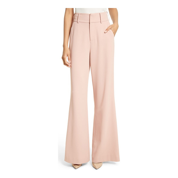 ALICE + OLIVIA dawn flare leg pants - A high-waisted cut with voluminous legs brings flowy drama...