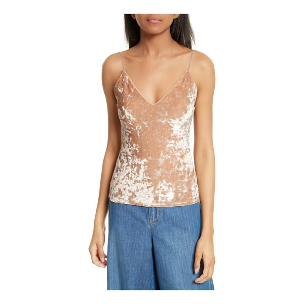 ALICE + OLIVIA delray crushed velvet camisole - Shimmering crushed velvet gives glam dimension to a fitted...