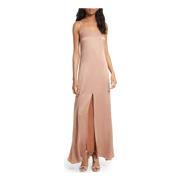 ALICE + OLIVIA elza front slit maxi slipdress - From the delicate straps to the daring front slit, a...