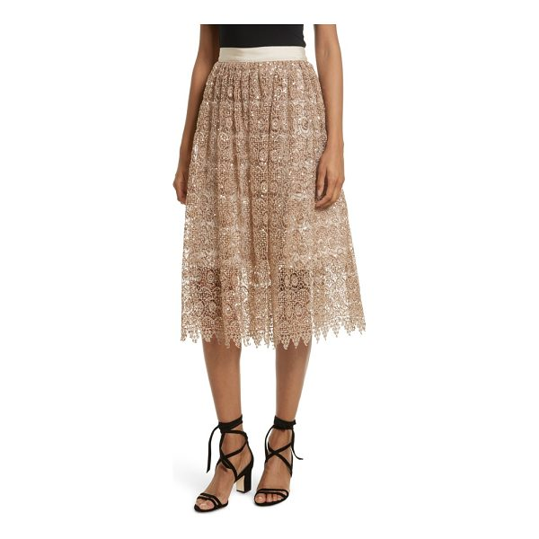 ALICE + OLIVIA metallic lace skirt - Perfect for party season, or just for adding a bit of...