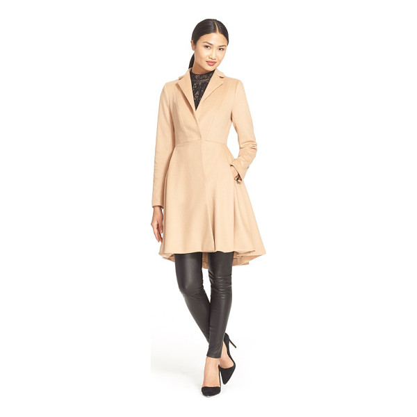 ALICE + OLIVIA nikita fit & flare wool coat - Cover up without obscuring your curves in this...