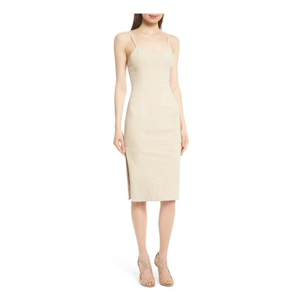 ALICE + OLIVIA rochell suede sheath dress - Exquisitely soft suede brings a luxe look and and feel to a...