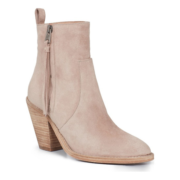 ALLSAINTS lorna bootie - A tapered block heel provides trend-savvy lift to an...