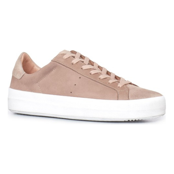 ALLSAINTS safia sneaker - A bold rubber sole grounds a low-top sneaker made from...
