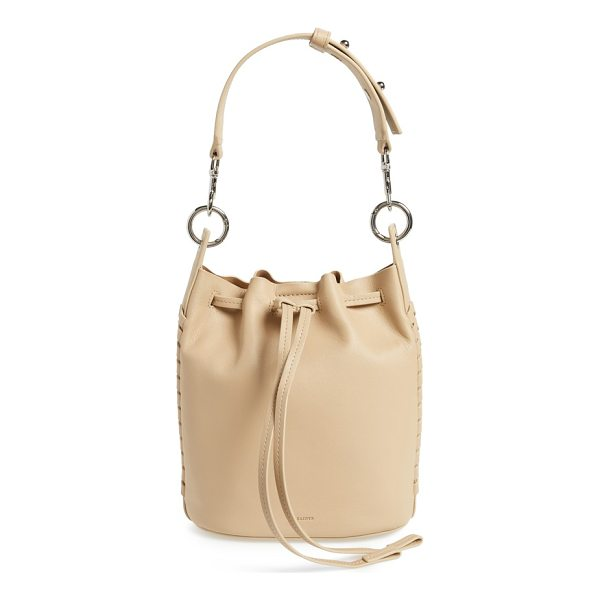 ALLSAINTS small ray leather bucket bag - Whipstitched trim gracefully frames an elevated bucket bag...