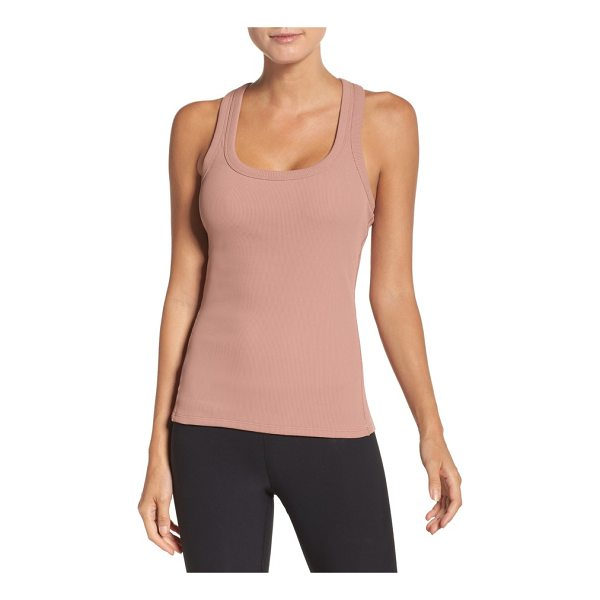 ALO YOGA support ribbed racerback tank - A stretchy, figure-hugging tank is perfect for workouts and...