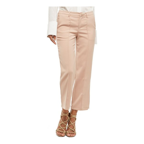 ALPHA AND OMEGA alpha & omega pintuck pants - Up your night-out game with these polished crops defined by...