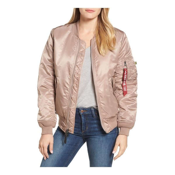 ALPHA INDUSTRIES ma-1 w bomber jacket - An essential piece for dropping temperatures, this...