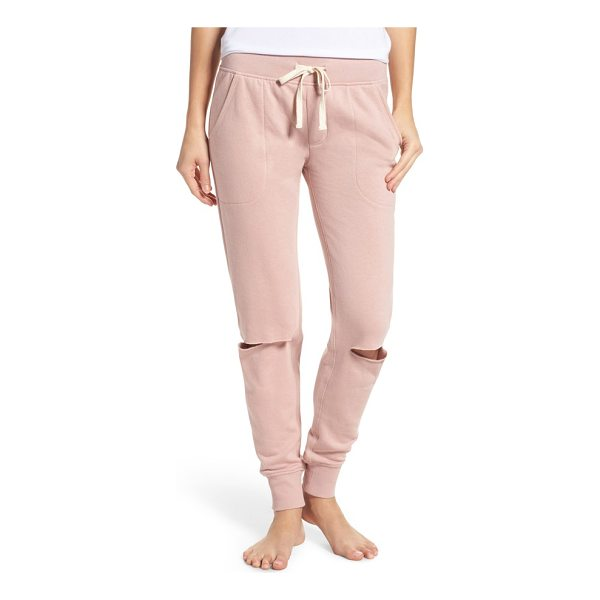 ALTERNATIVE slashed lounge jogger pants - Get that sporty-chic look in these supersoft joggers styled...