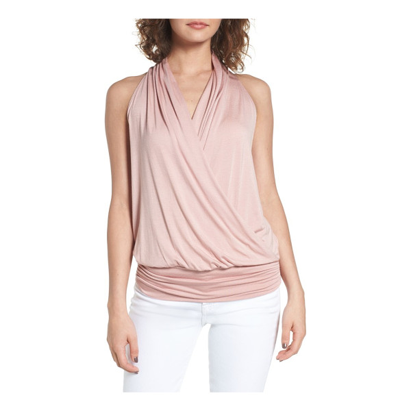 AMOUR VERT 'agnes' surplice tank - Soft modal jersey fashions a sleeveless top with an elegant...