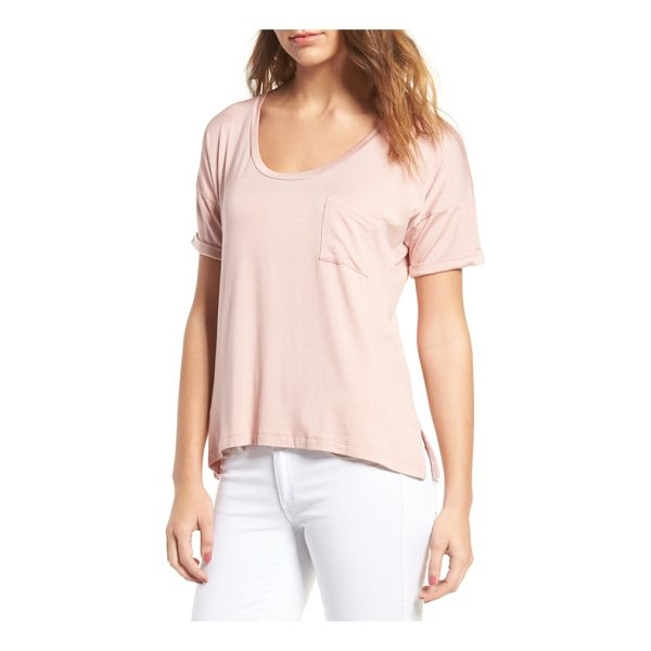 AMOUR VERT paxton pocket tee - Ultrasoft and stretchy, this drapey tee features special...