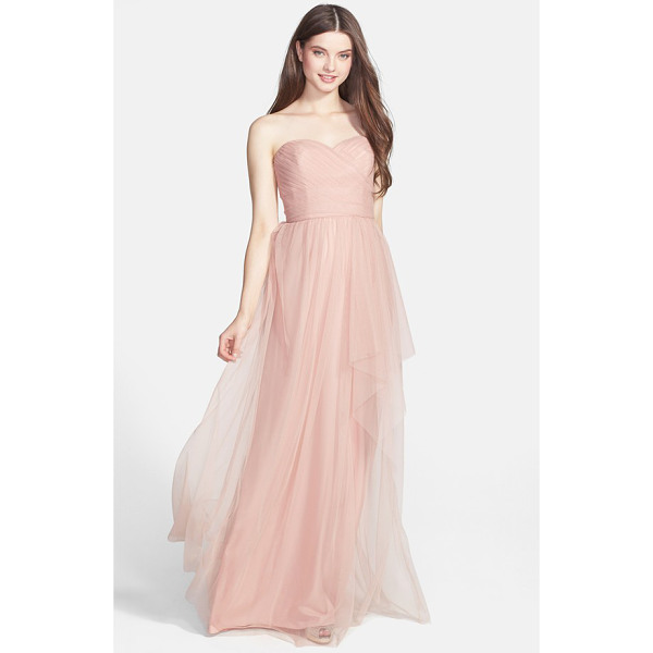 AMSALE draped tulle gown - Tissue-weight tulle expertly shirred and wrapped around the...