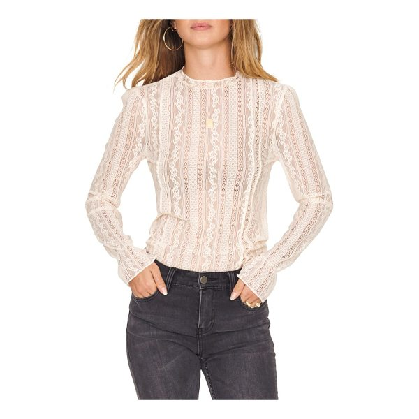 AMUSE SOCIETY all about that lace top - Formerly fancy, lace just got a whole lot racier thanks to...