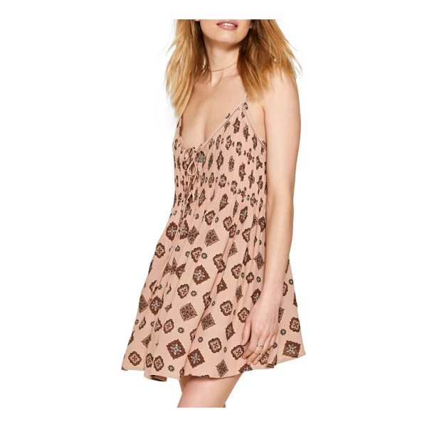 AMUSE SOCIETY baja lace-up swing dress - Effortlessly chic, this sunny-day dress is styled with a...