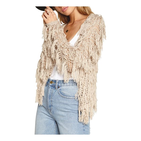 AMUSE SOCIETY chelsea fringe sweater - Enhance the carefree vibe of your look with this crochet...