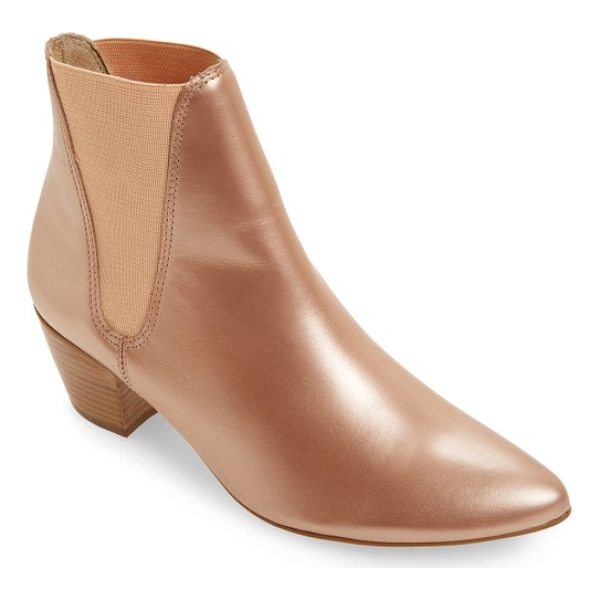 AMUSE SOCIETY X MATISSE sass bootie - Lustrous, rose-gold colored leather adds uptown charm to a...