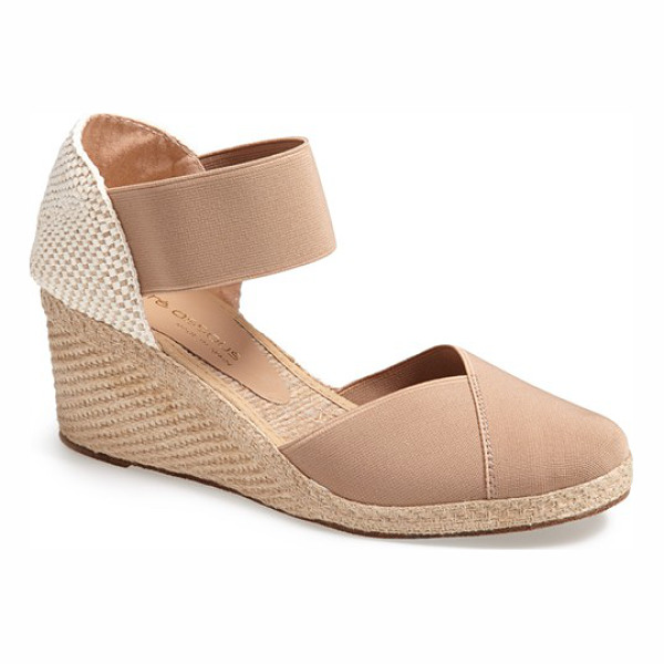 ANDRE ASSOUS anouka sandal - An earthy weave crafts the open heel of an elasticized...