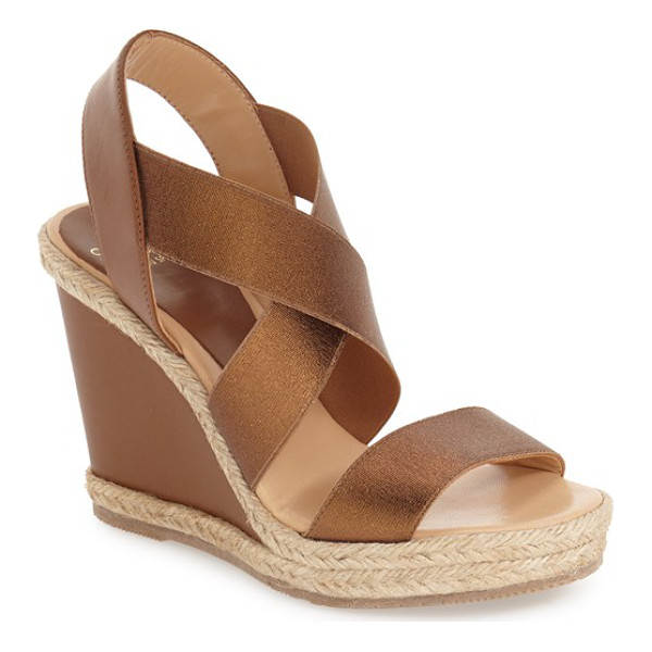 ANDRE ASSOUS cassandra wedge sandal - Braided jute trim adds a beachy vibe to a summer-ready...