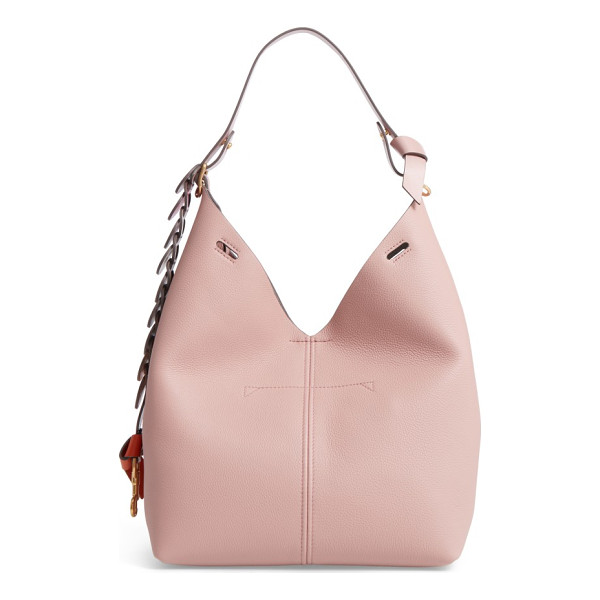 ANYA HINDMARCH small leather hobo - Gradient-hued, hand-woven detailing and impeccable...