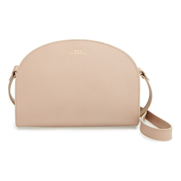 A.P.C. Demi lune embossed leather crossbody bag - Luxe Italian leather is stamped with a wavy motif, adding...