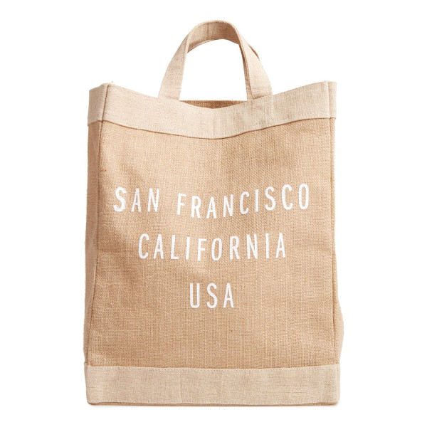APOLIS san francisco simple market bag - A handcrafted tote with a waterproof lining and natural...