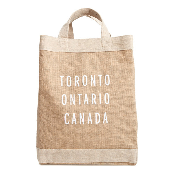 APOLIS toronto simple market bag - A handcrafted tote with a waterproof lining and natural