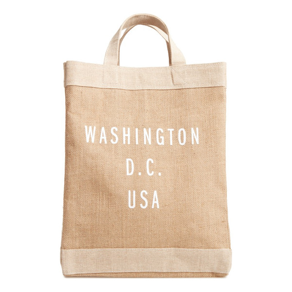 APOLIS washington d.c. simple market bag - A handcrafted tote with a waterproof lining and natural...