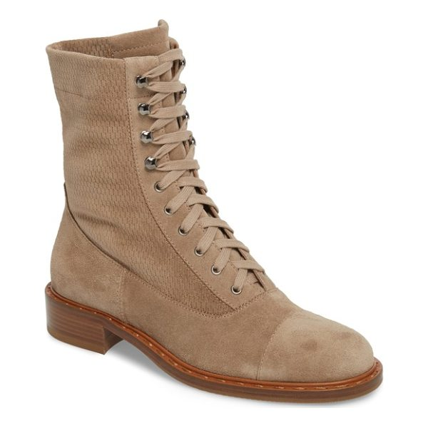 AQUATALIA brigitta weatherproof boot - Soft suede defines quietly luxe lace-up boots inspired by...