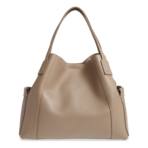 AQUATALIA leather tote - Richly pebbled leather defines the clean, classic...