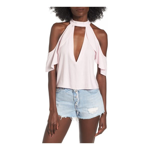 AFRM eden cold shoulder halter top - The plunging neckline and cutouts add definite interest...