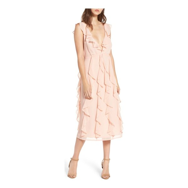ARRIVE ingrid ruffle chiffon midi dress - When it comes to ruffles, the more the merrier-especially...
