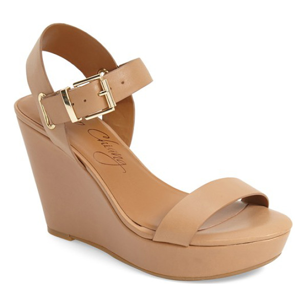 ARTURO CHIANG 'paulline' wedge sandal - Polished, minimalist hardware complements the clean, modern...