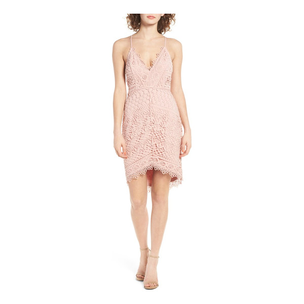 ASTR THE LABEL lace body-con dress - Pretty floral lace and openwork stitches deliver a touch of...