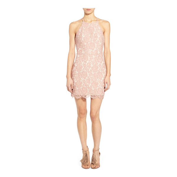 ASTR THE LABEL lace open back minidress - Prepare to turn heads in a figure-flaunting minidress cut...