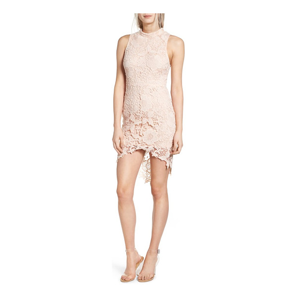 ASTR THE LABEL 'samantha' lace dress - A delicate overlay of guipure lace has a flirtatious effect...