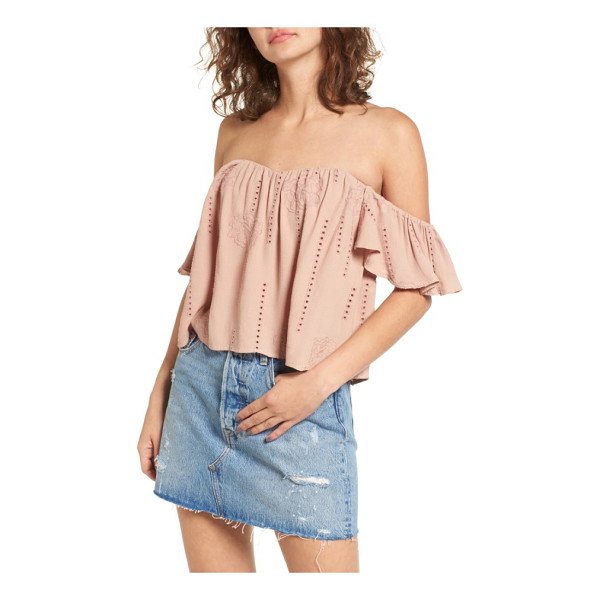 ASTR THE LABEL amara blouse - Ruffled sleeves, embroidery and openwork details romance a...