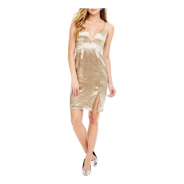 ASTR THE LABEL amira slipdress - A flattering V-neck and side slit make this shimmering...