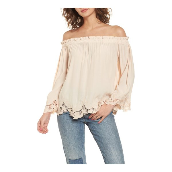 ASTR THE LABEL analena off the shoulder blouse - You might be tempted to take a spin in this fluid...