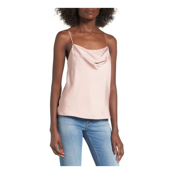 ASTR THE LABEL cowl neck tank - A softly draped cowl neckline updates this silky camisole...