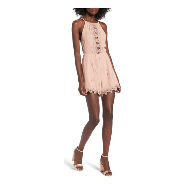 ASTR THE LABEL kiara romper - Show some skin in this flirty romper with cutout detailing...