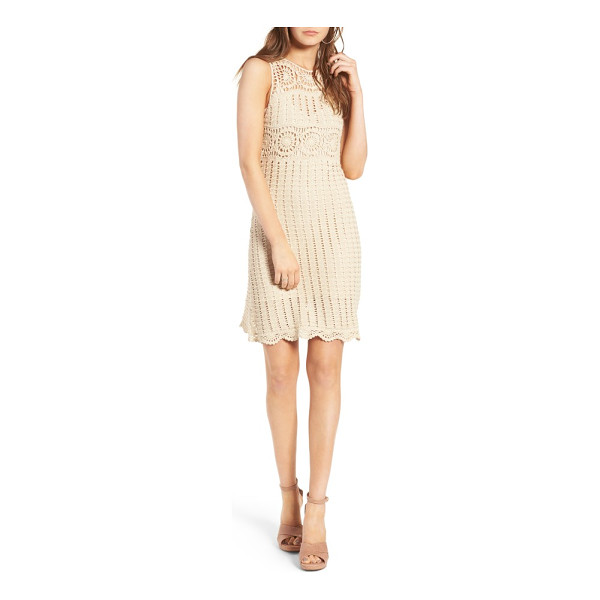 ASTR THE LABEL maya crochet dress - The summery minidress offers bohemian romance with its...