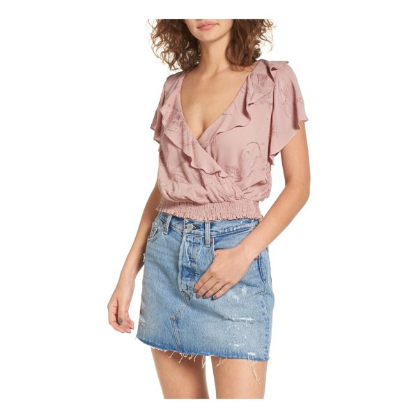 ASTR THE LABEL ruffle top - Tonally embroidered crepe is cut to maximize its fluid...