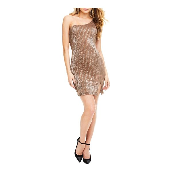 ASTR THE LABEL serena one shoulder dress - If your motto is 'there's no such thing as too much bling'...