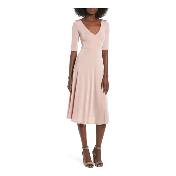 ASTR THE LABEL shine cross back midi dress - Draw all eyes to you with the luminous sheen of this...