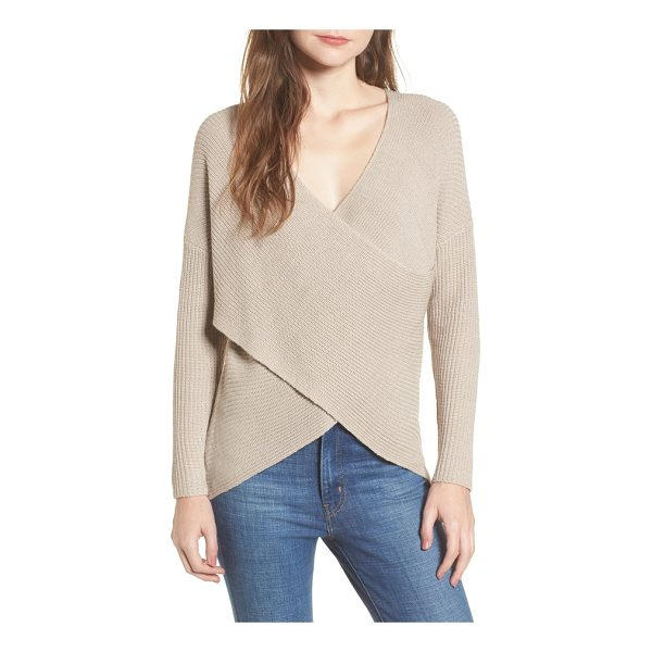 ASTR THE LABEL wrap front sweater - Combining the comfort of a sweater with the style of a...