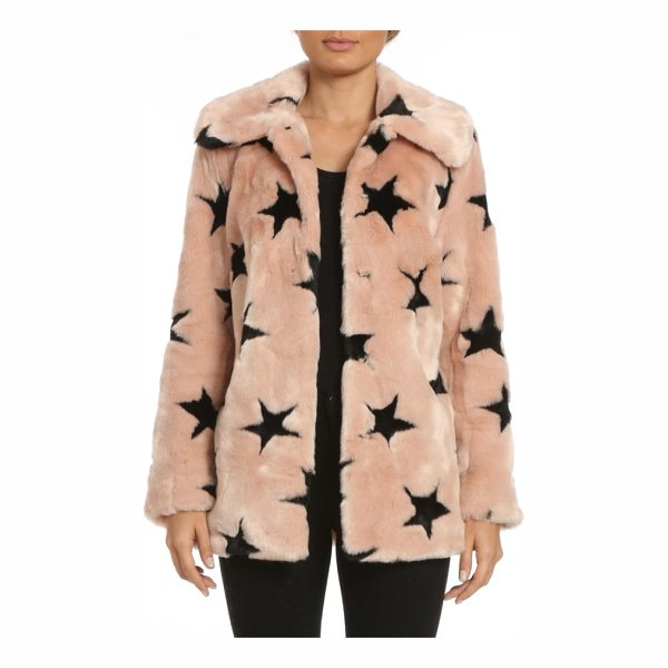 AVEC LES FILLES faux fur swing coat - Cozy and glam all at once, this collared faux fur jacket is...